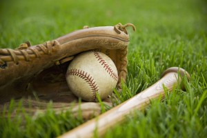 Baseball Equipment on Grass